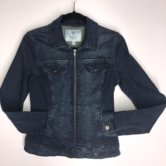 GUESS Rigby Denim Jacket Dark Wash M NEW NWT